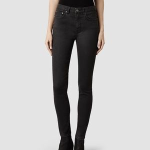 "AllSaints ""stilt"" skinny lacquer jean"